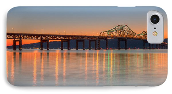 Tappan Zee Bridge After Sunset II Phone Case by Clarence Holmes
