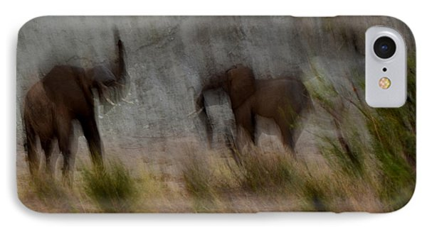 Tarangire Elephants 1 IPhone Case