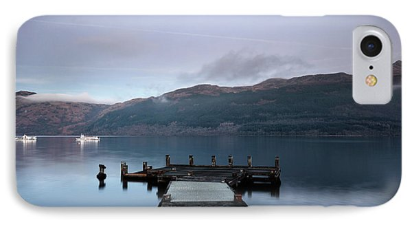 IPhone Case featuring the photograph Tarbet Twilight by Grant Glendinning