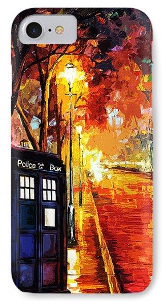 Tardis Art Painting IPhone Case