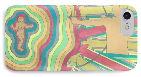 IPhone Case featuring the painting Target by Erika Chamberlin