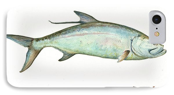 Tarpon Fishf IPhone Case by Juan Bosco