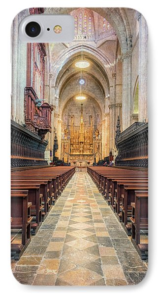 Tarragona Cathedral Interior IPhone Case by Joan Carroll