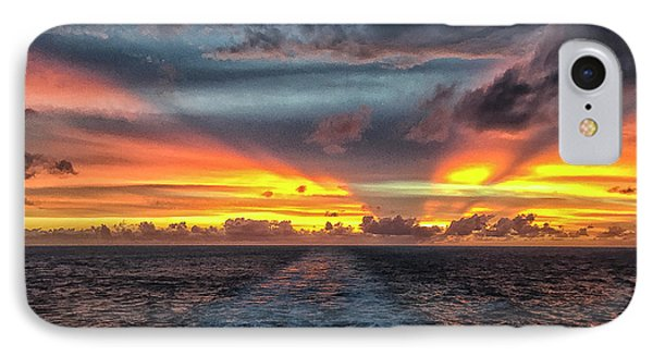 IPhone Case featuring the photograph Tasman Sea Sunset by Bill Barber