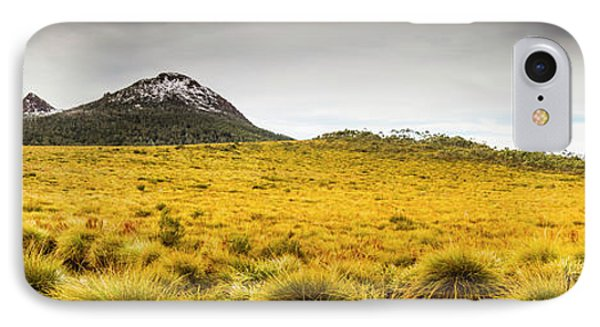 Tasmania Mountains Of The East-west Great Divide  IPhone Case by Jorgo Photography - Wall Art Gallery