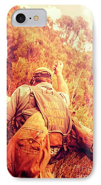 Tasmania Search And Rescue Ses Volunteer  IPhone Case by Jorgo Photography - Wall Art Gallery