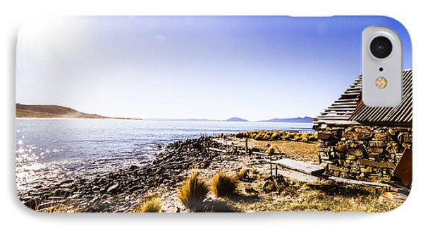 Tasmanian Boat Shed By The Ocean IPhone Case by Jorgo Photography - Wall Art Gallery