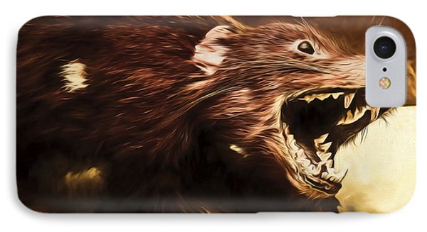 Tasmanian Devil Digital Painting IPhone Case
