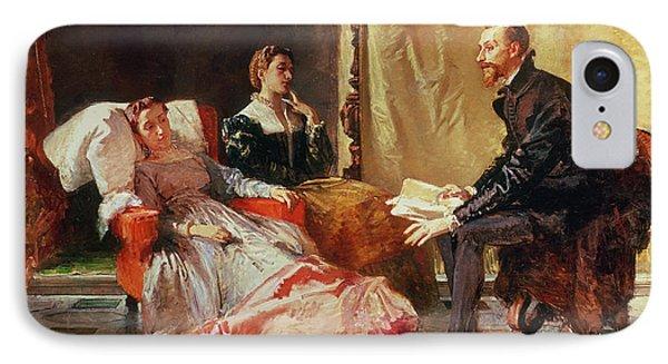 Tasso And Elenora Phone Case by Domenico Morelli