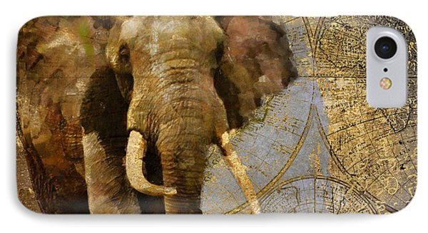 Taste Of Africa Elephant IPhone Case by Mindy Sommers