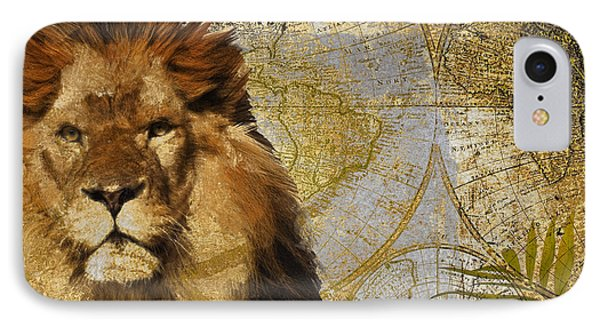 Taste Of Africa Lion IPhone Case by Mindy Sommers