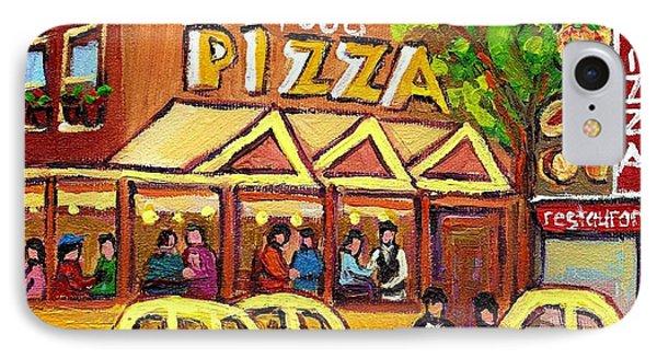 Tasty Food Pizza On Decarie Blvd Phone Case by Carole Spandau