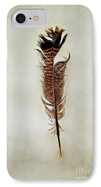 IPhone Case featuring the photograph Tattered Turkey Feather by Stephanie Frey