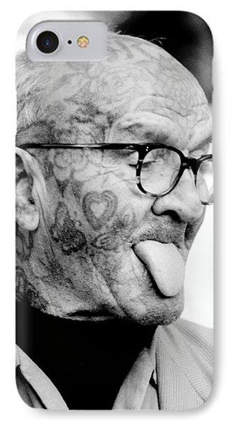 Tattoo Man IPhone Case by David Gilbert