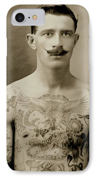 Tattooed British Sailor During The First World War IPhone Case by English School