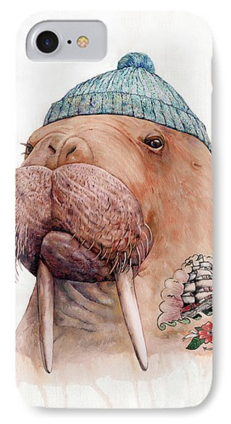Beach iPhone 7 Case - Tattooed Walrus by Animal Crew