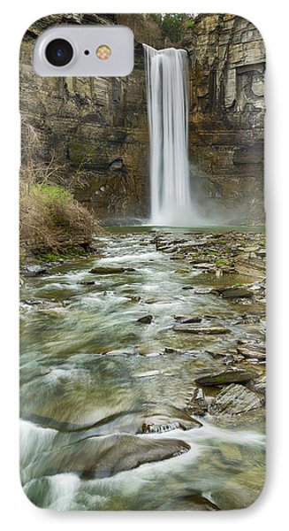 Taughannock Falls After The Thaw IPhone Case by Stephen Stookey