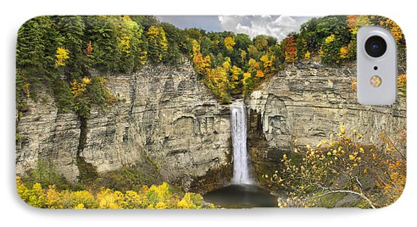 Taughannock Falls Autumn IPhone Case by Christina Rollo