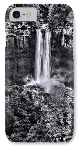 Taughannock Falls - Bw IPhone Case by Stephen Stookey