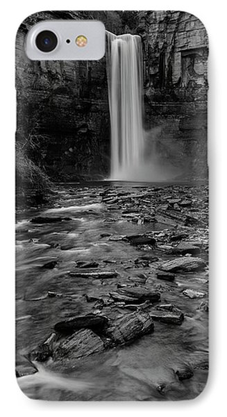 Taughannock Falls In Bw IPhone Case by Stephen Stookey