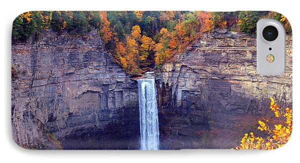Taughannock Waterfalls In Autumn IPhone Case by Paul Ge