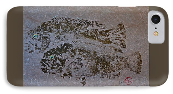 Tautog With Shadow IPhone Case by Jeffrey Canha
