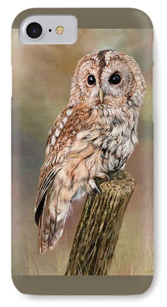 Tawny Owl IPhone Case by David Stribbling