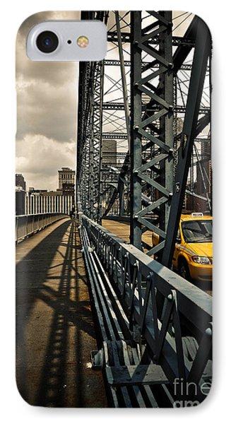 Taxi Crossing Smithfield Street Bridge Pittsburgh Pennsylvania Phone Case by Amy Cicconi