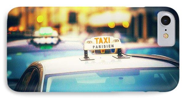 Taxi Parisien IPhone Case by Katya Horner