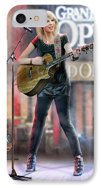 Taylor At The Opry IPhone 7 Case by Don Olea