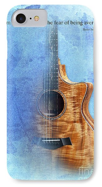 Taylor Inspirational Quote, Acoustic Guitar Original Abstract Art IPhone Case by Pablo Franchi
