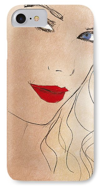 Taylor Red Lips IPhone 7 Case by Pablo Franchi