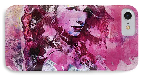Taylor Swift - Oncore IPhone 7 Case by Sir Josef - Social Critic - ART