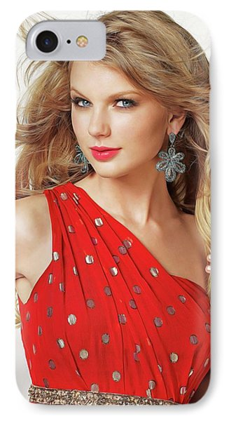 Taylor Swift IPhone 7 Case by Twinkle Mehta