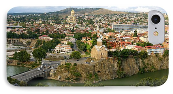 Tbilisi - High Angle View. IPhone Case by Viktor Pyko