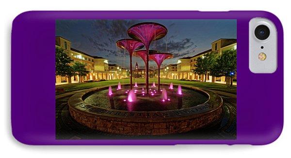 IPhone Case featuring the photograph Tcu Frog Fountain by Jonathan Davison