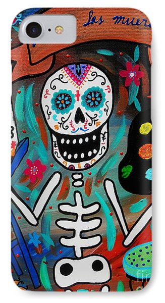 IPhone Case featuring the painting Te Amo Painter Dia De Los Muertos by Pristine Cartera Turkus
