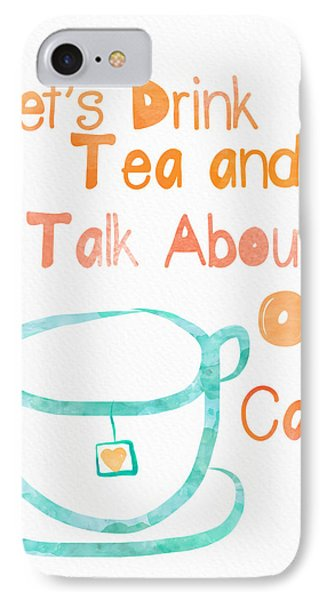 Tea And Cats IPhone Case