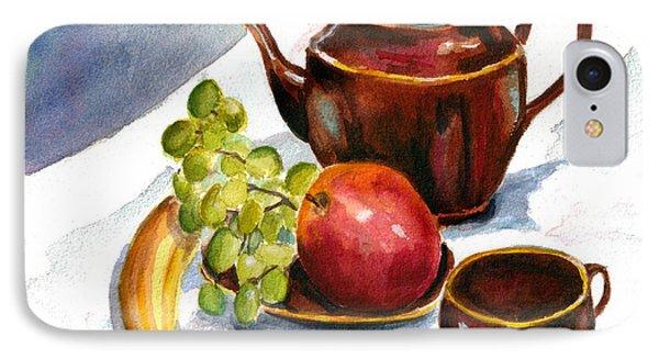 Tea And Fruit IPhone Case by Clara Sue Beym
