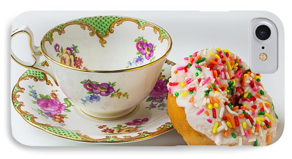 Tea Cup And Donut IPhone Case