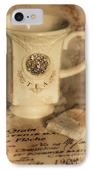 Tea Cups And Vintage Stains IPhone Case by Jorgo Photography - Wall Art Gallery