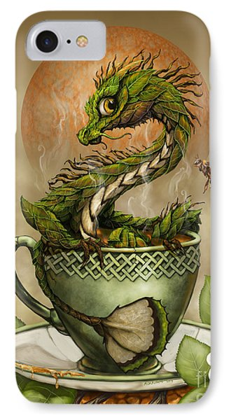 Dragon iPhone 7 Case - Tea Dragon by Stanley Morrison
