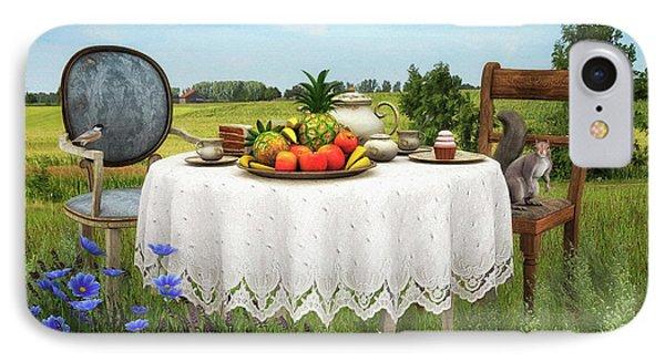 IPhone Case featuring the digital art Tea For Two by Jutta Maria Pusl