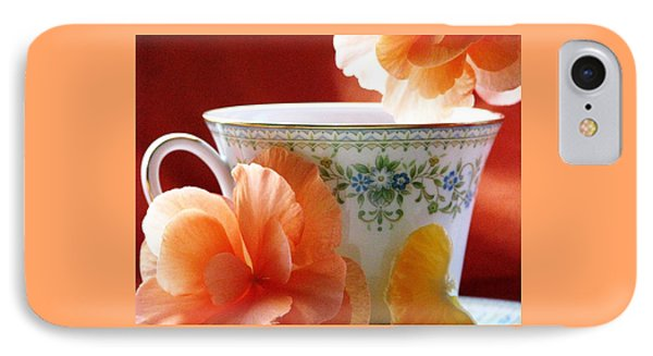 IPhone Case featuring the photograph Tea In The Garden by Angela Davies