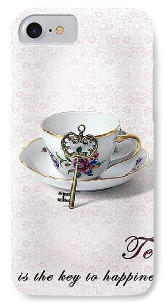 Tea Is Happiness IPhone Case by Joana Kruse