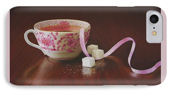Tea Party Pink IPhone Case by Barbara Groff