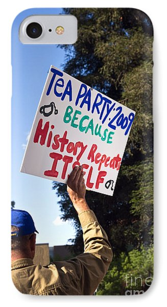 Tea Party Protest, 2009 IPhone Case by Inga Spence