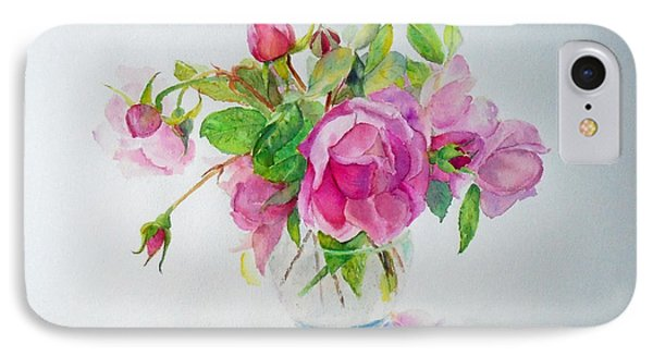 IPhone Case featuring the painting Tea Rose by Beatrice Cloake