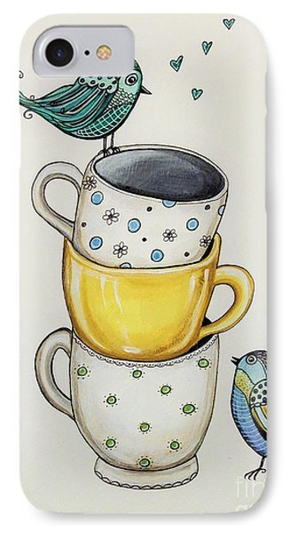 Tea Time Friends IPhone Case by Elizabeth Robinette Tyndall