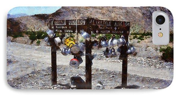 Teakettle Junction At Death Valley - Da IPhone Case by Leonardo Digenio
